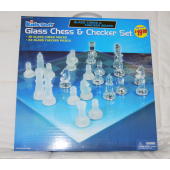 "CHESSLG8 - Giant 15"" Glass Chess Sets (each @ $12.50/pc)"
