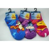 WPSOCKS - Winnie the Pooh Kids Socks size 9-11 (12 pairs @ $1.25/pair)