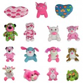Item# A11GSMVALV - Small 100% Generic Valentine's Plush Kit 6.5'' (144 pcs @ $1.39/pc)
