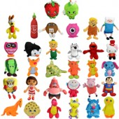 Item# A11L190 - Small 50% Licensed Plush Kit 6.5'' (180 pcs @ $2.15/pc)