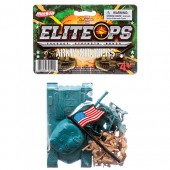 CJ203975 - TOY ARMY SET WITH TANK & SOLDIERS & FLAG (24pcs @ $1.50/pc)