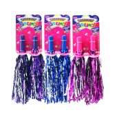Item# KK22290 - POM POMS BLUE- PINK- PURPLE (36pcs @ $1.20/pc)