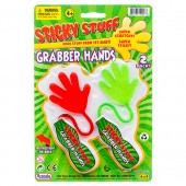 "Item# CJ23671 - 8"" 2pc Sticky Grabber Hands (24pks @ $1.30/pk)"