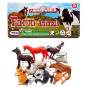 Item# CJ27656 - 10pc Farm Animal Play Set (36pks @ $1.30/pk)