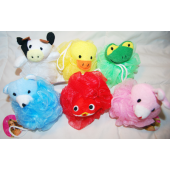 "BR48 - 5"" Assorted Animal Bath Scrubber (12 pcs @ $1.10/pc)"