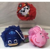 "LOOFA - Asst. 4.5"" Colorful Licensed Bath Loofas (12pcs @ $0.99/pc)"