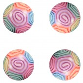 A145GIB - 45mm Glow-in-the-Dark Swirl Pattern Hi-Bounce Balls (50 pcs @ $0.55/pc)