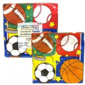 PARTY3 - Sport Napkins 20ct. (36pks @ $1.05/pk)
