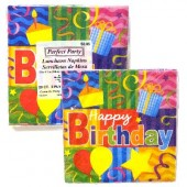 HWH156 - Happy Bday Lunch Napkin 20ct. (36pks @ $1.05/pk)