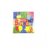 HWH154 - Happy Bday Beverage  Napkins 20ct. (36pks @ $1.05/pk)