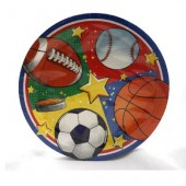 "PARTY1 - 9""  Sports Plate 16ct.  (36pks @ $1.30/pk)"
