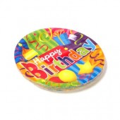 "HWH157 - 7""  Happy B Day  Plate 16ct (36pks @ $1.10/pk)"