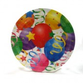 "HWH148 - 9"" Balloon Party Plate 16ct. (36pks @ $1.30/pk)"