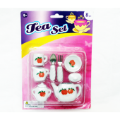 "TEASET - 8pc Asst. Porcelain Tea Sets on 10"" Blister (12pcs @ $1.25/set)"