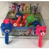 "ANISQUE - 6"" Light Up Animal Squeak Hammers (12pcs @ $1.10/pc)"
