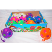 "CZBR110 - 3"" Light Up Squeaky Soccer Ball YoYo (12 pcs @ $0.90/pc)"