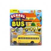 "Item# KK74793 - 6"" SCHOOL BUS ON BLISTER CARD (48pcs @ $1.40/pc)"