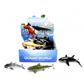 "Item# KK77547-DPY - 8"" COLORFUL SHARK ASST. (18pcs @ $1.50/pc)"
