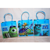 "BR187 - 6"" Monsters Inc. PVC Gift Bag (12 pcs @ $0.80/pc)"