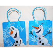 "BR184 - 6.5"" Olaf PVC Gift Bag (12 pcs @ $0.80/pc)"