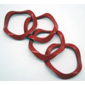 BRACRED - Wavy Reb Plastic Bracelets (12pcs @ $0.15/pc)