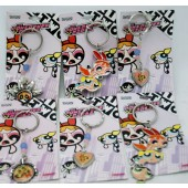 PP1W - Powerpuff Girls Metal Keychains (12pcs @ $0.60/pc)