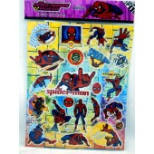 "STICKER33 - Spiderman 12""x8""  Laser Sticker Sheets (12pcs @ $.75/pc)"