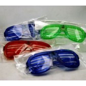CZSUNSLOT4 - Light Up Slotted Sunglasses (12pcs @ $2.50/pc)