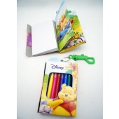 "WPNB - 5"" Winnie The Pooh Note Book w/ Clip-On & 8 Markers (12pcs @ $1.25/pc)"