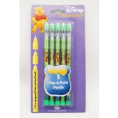 WPPP - Winnie the Pooh 5pk  Push Pencils (12pks @ $2.00/pc)