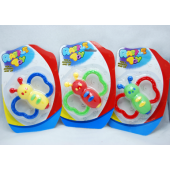 "BABYRAT - 4.5"" Baby Rattles on Card (12pcs @ $1.20/pc"