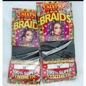 "BRAIDS - 60"" Calypso Hair Braids (12pcs @ $1.25/pc)"