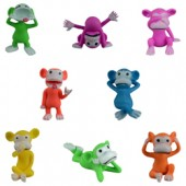 Item# A1CHCHB - Neon Cheeky Chimp Figurines in Bulk Bag (100 pcs @ $0.20/pc)