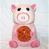 "BR169 - 10"" Talking Pig Ceramic Cookie Jar (1 pc @ $9.95/pc)"