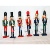 "BR165 - 9"" Assorted Wooden Nutcracker (12 pcs @ $1.40/pc)"