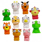 "Item# A1EYPOB - 2"" Eye Poppin Animals (100pcs @ $0.38/pc)"
