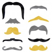 Item# A1FUF2B - Plastic Fun Moustache Mix (100pcs@ $0.10/pc)