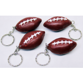 "CZFOOTKC3 - 2"" Leather Looking Football Keychains (12pcs @ $0.79/pc)..."