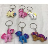 "CZUNIKC7 - 2"" Colorful Unicorn Keychian Asst. (12pcs @ $0.79/pc)"