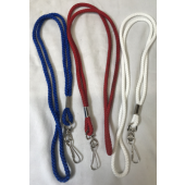 LMM28 - Colorful Rope Lanyards w Metal Clip (500pcs @ $0.03/pc)