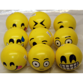 "CZBR460 - 3"" Emoji Soft Foam Expression Balls (12 pcs @ $1.00/pc)"