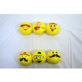 "CZJB137 - 3"" Soft Sport Emoji Balls (12pcs @ $0.75/pc)"