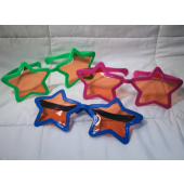 "BR417 - 10"" Huge Assorted Color Star Sunglasses (12 pcs @ $0.90/pc)"