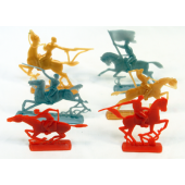 "KNIGHT1 - 2.5"" Plastic Colorful Warrior Knights(108.pcs @ $0.04/pc)"