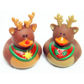 "NW13 - 2"" Reindeer Rubber Duckies (12pcs @ $0.50/pc)"
