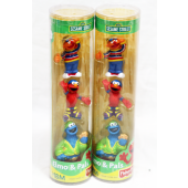 "NW16 - Sesame Street 3pk Figures in 10"" Tube (5pcs @ $3.00/pc)"