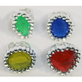 "CC46 - 1"" Jewel Gem Rings (144pcs @ $0.06/pc)"