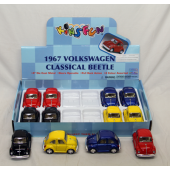 "TH13 - 3.5"" Die Cast Volkswagon Beetle Asst. (12pcs @ $3.25/pc)"