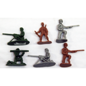 "ARMY12001 - 1.5"" Asst. Colored Army Men (1200pcs @ $0.01/pc)....."