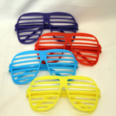 "BR484 - 6"" Plastic Slotted Sunglasses (48pc@ $0.29/pc)"